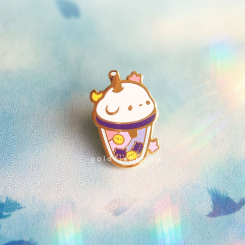 LATD Chapter 2 Enamel Pin: Moonbear Boba