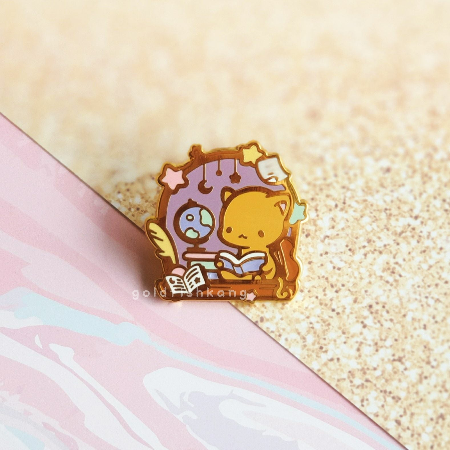Windowsill Pals Enamel Pin: Star Scholar