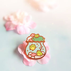 Tiny Earth Enamel Pin: Lilypond Trio