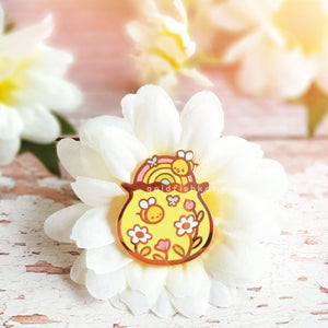 Tiny Earth Enamel Pin: Bumblebee Party
