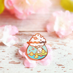 Tiny Earth Enamel Pin: Sakura Lakeside