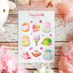 Tiny Earth Sticker Sheet: Spring