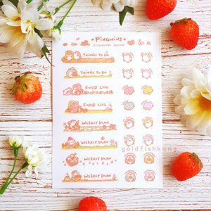 Pingwins Sticker Sheet: Strawberry Season