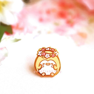Pingwins Enamel Pin: Buttercup's Flower Crown