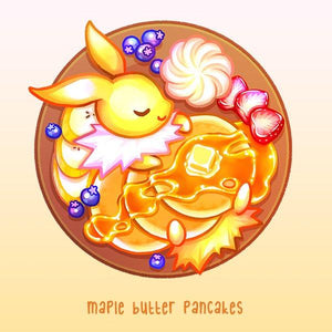 Breakfast Eevees: Jolteon - Goldfishkang