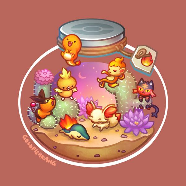 Poketerrariums: Fire - Goldfishkang
