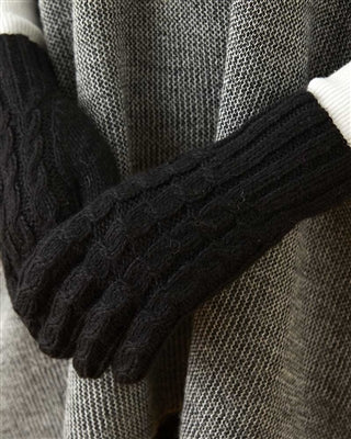 Trenza Cable Alpaca Handknit Gloves