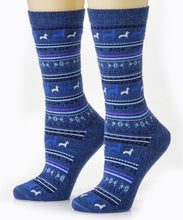 Load image into Gallery viewer, Alpaca Print Crew Sock