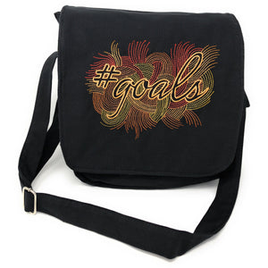 Bags - Black Canvas Messenger Bag For Women, #Goals