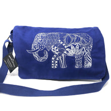 Bags - Embroidered Messenger Bag - Elephant