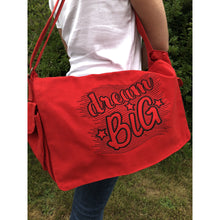 Bags - Embroidered Messenger Bag Large - Dream Big