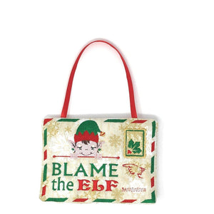 Christmas - Blame It On The Elf Door Hanger