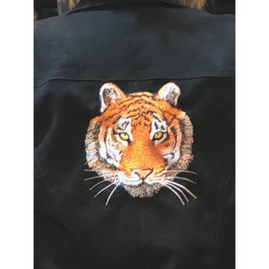 Patches - Huge Tiger Embroidered Patch, Embroidered Patches Handmade In USA