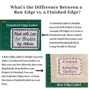 Quilt Labels - Custom Extra Large Label