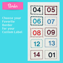 Quilt Labels - Extra Large 6x6 Inch Plus Motif Personalized Quilt Label