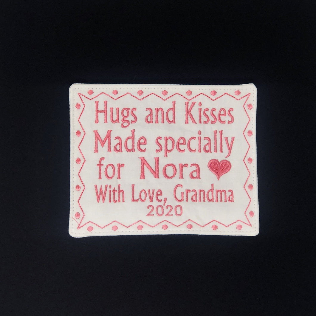 Quilt Labels - Label With Custom Motif