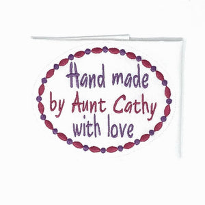 Quilt Labels - Made For You Oval Label 4x5