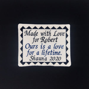 Quilt Labels - Made With Love 4x5