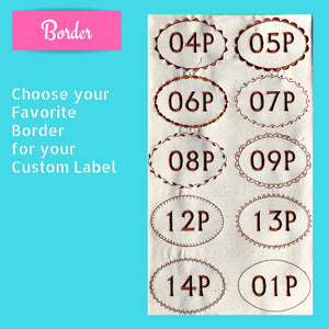 Quilt Labels - Oval Baby Label 3x4