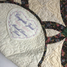 Quilt Labels - Personalized Heart Label Embroidered