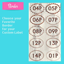 Quilt Labels - Personalized Quilt Label 5x7 Inch Oval