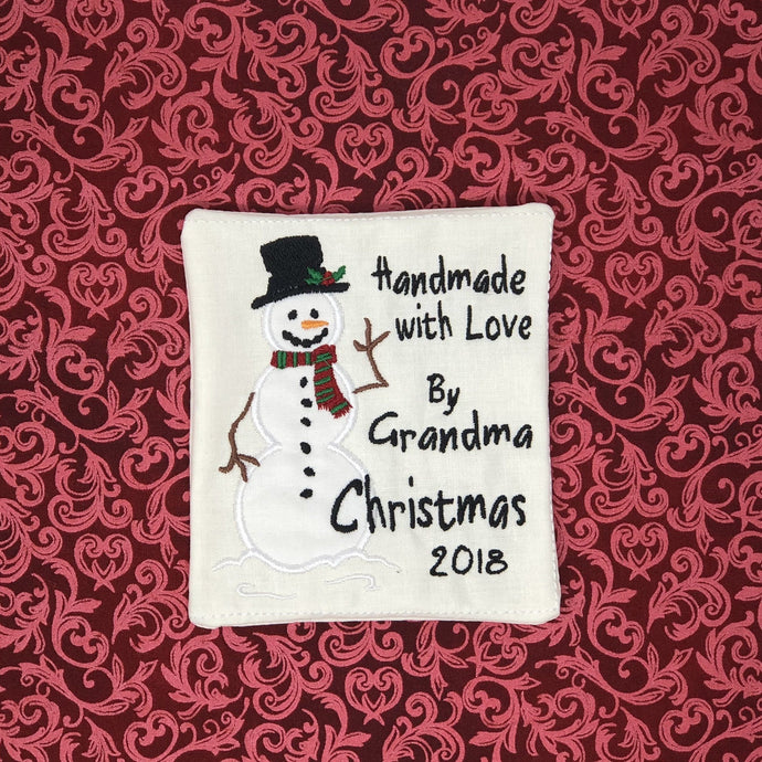 Quilt Labels - Snowman Quilt Label French Vanilla