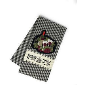 Towels - Extreme Wine Tasting Embroidered Hand Towel