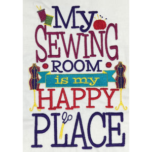 Wall Hangings - Embroidered Sewing Room Wall Decor - My Sewing Room Happy Place