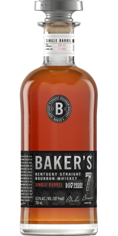 Baker's Bourbon 7 Year Old Single Barrel 107 Proof Kentucky Bourbon 750ml