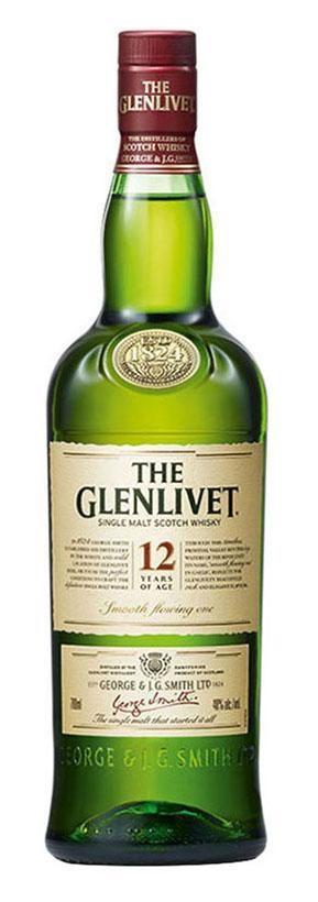 Glenlivet 12 Year Old Single Malt Whisky 1L