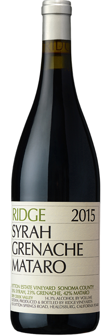 Ridge Vineyards Syrah Grenache Mataro 2015 750ml