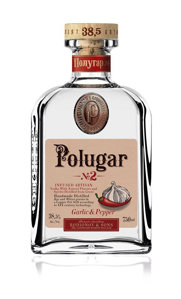 Polugar No.2 Garlic & Pepper Vodka 750ml