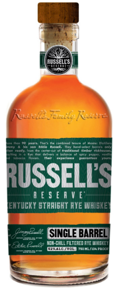 Russell's Reserve Single Barrel Rye 104 Proof 750ml