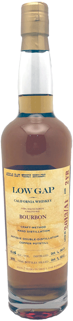 Low Gap Bourbon Whiskey 750ml