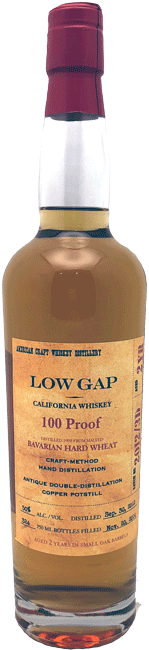 Low Gap Wheat Whiskey 2 Yrs 100 Proof 750ml