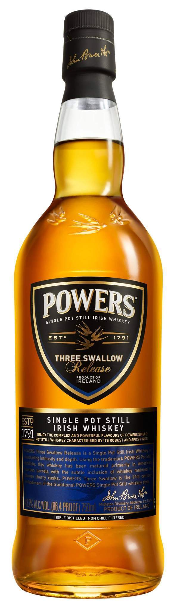 Powers Three Swallow 750ml