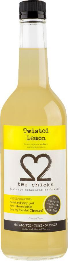 Two Chicks Twisted Lemon 750ml
