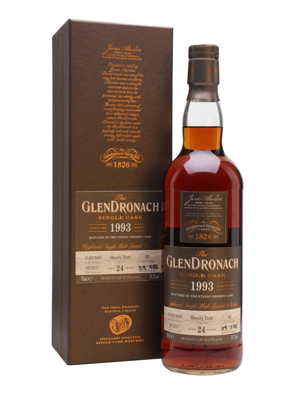 Glendronach Sherry Butt Single Cask 1993 24 Yrs 750ml