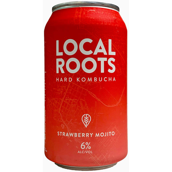 Local Roots Hard Kombucha Strawberry Mojito Cans 16oz