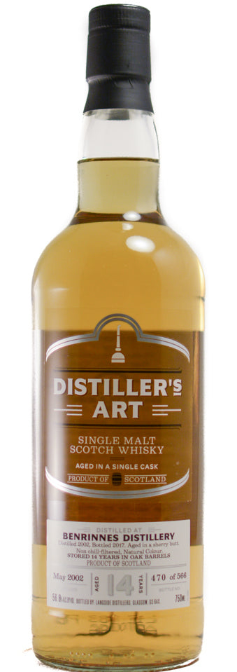 Distiller's Art Benrinnes Single Malt Scotch Whiskey 2002 14yr 750ml