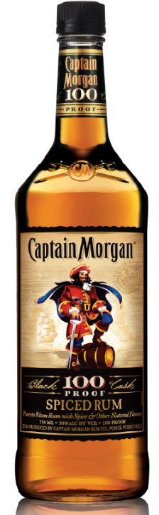 Captain Morgan Rum 100 Proof 750ml