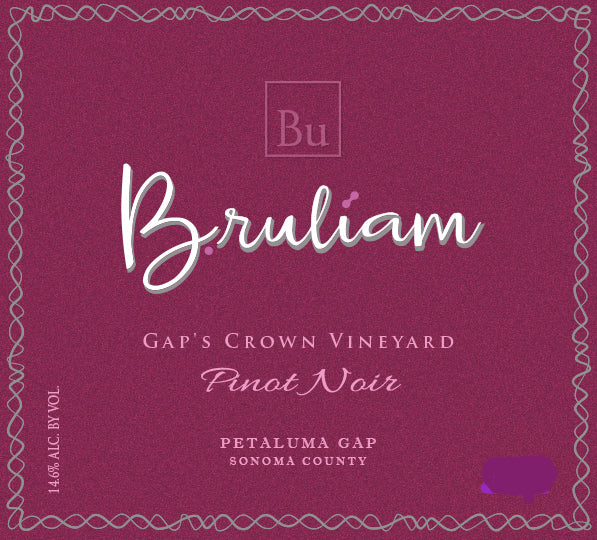 Bruliam Pinot Noir Gap's Crown 2015 750ml