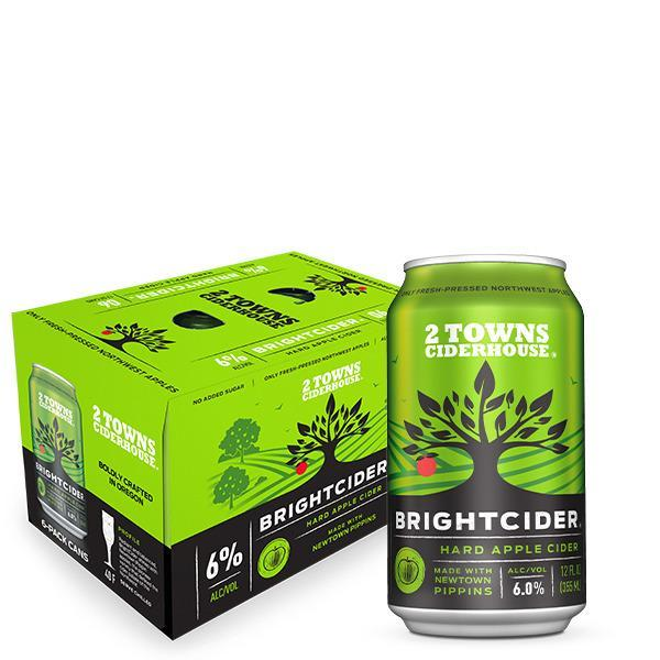2 Towns Bright Cider 6pk Cans