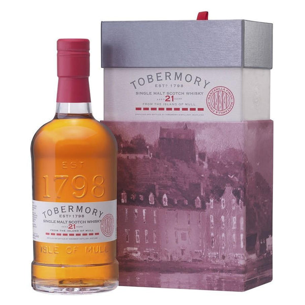 Tobermory 21 Year Old Single Malt Whisky 750ml