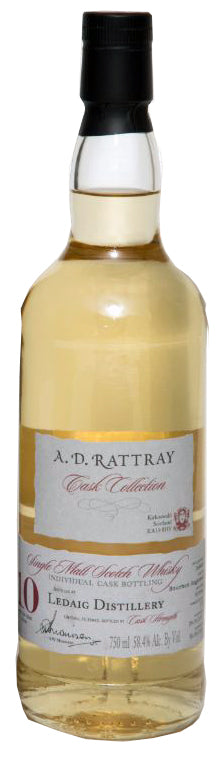 A.D. Rattray Ledaig 2007 10 Year Old Single Barrel Single Malt Whisky 750ml