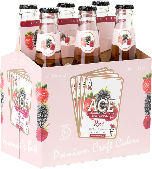Ace Berry Rose 6pk Btls