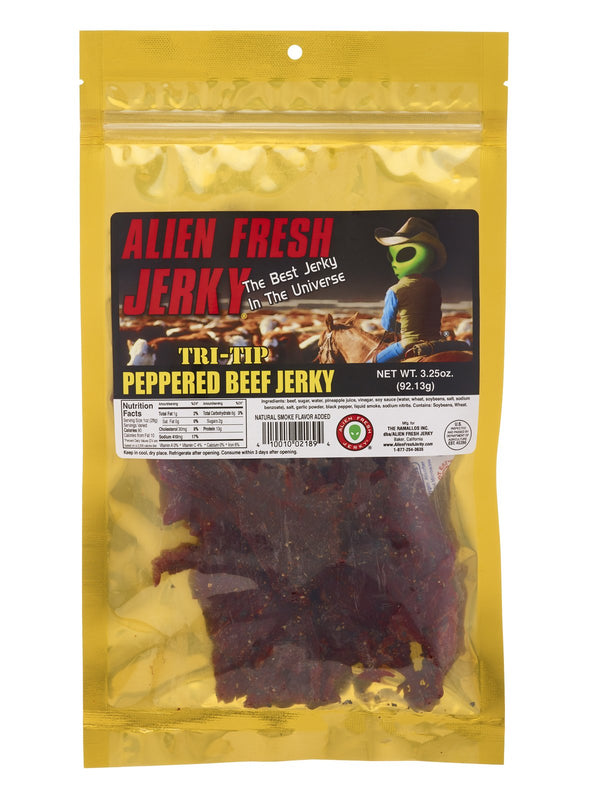 Alien Fresh Beef Jerky Peppered 3.25oz