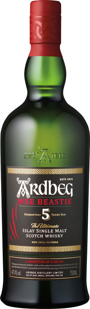 Ardbeg Wee Beastie 5 Year Old Single Malt Whisky 750ml