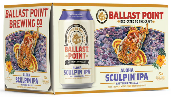 Ballast Point Aloha Sculpin IPA 6pk Cans