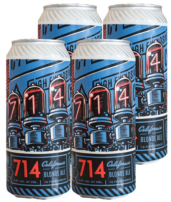 Bottle Logic 714 Blonde 4pk Can